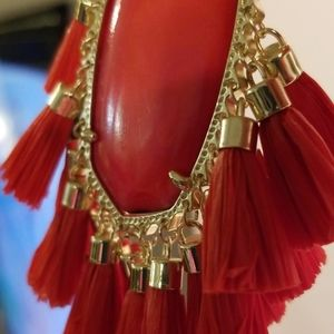 "BRIGHT RED ""BETSY"" KENDRA SCOTT NECKLACE!!!"